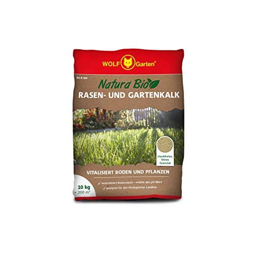 WOLF-Garten - Saatgut, Natura Bio-Rasen und Gartenkalk RG-K 200 für 200 m², weiß, 40 x 30 x 6 cm, 3836172