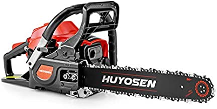 HUYOSEN Gas Power Chain Saws Corded 40.1CC 2 Cycle Gas Powered Chainsaw Guide Bar Size 16 inchs 3/8 inchs 57DL Chain Guide Bar 4116S