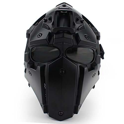 Tactical Airsoft Full Face Protection, Terminator Helmet with Mask Goggles. Used for Military Role-Playing Movie Props Hunting Paintball Shooting