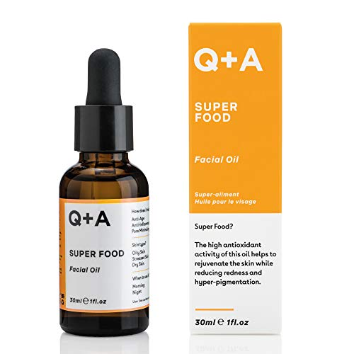 Q+A Super Food Facial Oil. A complexion enhancing face oil packed with 100%...