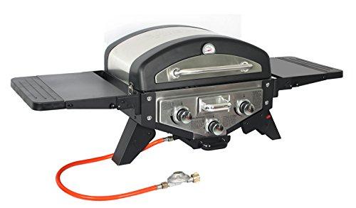 El Fuego Gasgrill Medison Tischgasgrill, Farbe Silber, Grill, BBQ, Barbecue
