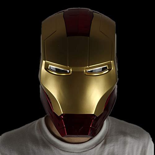 GYMAN Superhéroe Iron Man Ant-Man Casco Usable Proporción 1: 1 Altura Realista Cosplay para El Partido De La Mascarada De La Navidad,Iron Man