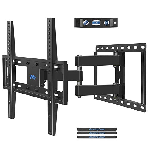 Mounting Dream Full Motion TV Wall Mount Bracket with Articulating Arm for Most 26-55 Inch LED, LCD Flat Screen TV up to VESA 400x400mm and 66 LBS, MD2378