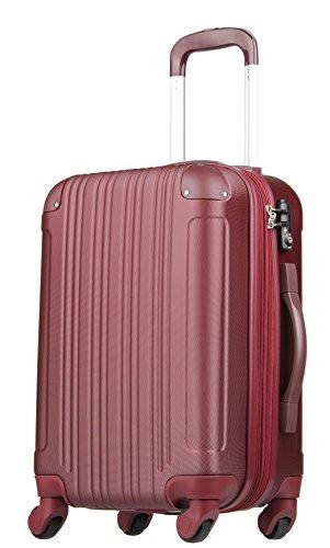 拡張ジッパースーツケース TSAロック 33リットル ワインレッド