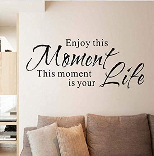 Geniet van dit moment leven inspirerende woorden muurschilderingen muur kunst PVC waterdichte behang woonkamer slaapkamer stickers huisdecoratie 57X24Cm