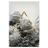 artboxONE Poster 30x20 cm Floral Triangle Bouquet II