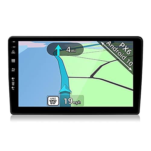 YUNTX PX6 Android 10 Autoradio Fit for Audi A4 (B6/B7)   Seat Exeo - 4G+64G - GPS 2 DIN - Gratis Cámara - Soporte Dab / Control del Volante / USB / HDMI / WiFi / Bluetooth / MirrorLink / Carplay