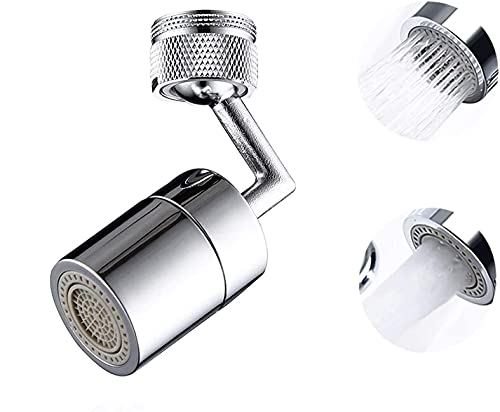 Wasserhahn-Luftsprudler, 720 ° drehbarer Universal Spritzfilter Wasserhahn mit 4-lagigem Netzfilter Sauerstoffangereicherter Schaum für Badküche Badezimmer