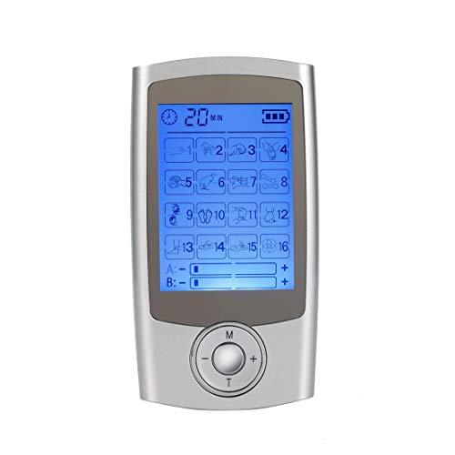Harddo massageapparaat voor het hele lichaam, elektronisch impulsfysiotherapie-massageapparaat ter verlichting van fibromyalgie/artrititis/schouder-/zenuw-/nek-/rugpijn EU zilver
