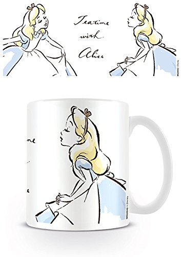 Alice im Wunderland 2 - Teatime with Alice - Keramik Tasse Hinter den Spiegeln Disney - Größe Ø8,5 H9,5cm