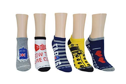 Arzt, der DALEK TARDIS No-Show-Socken 5 Paar