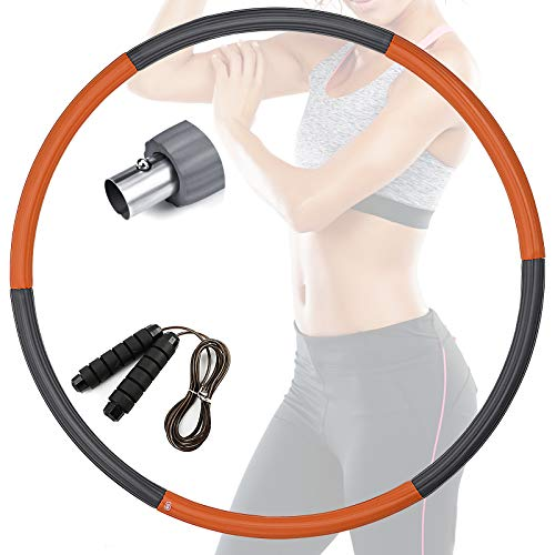 Aro de hula hoop con cuerda de saltar para pérdida de peso y masaje, extraíble, para adultos y niños, fitness, tonificación abdominal en casa, oficina (color 3)
