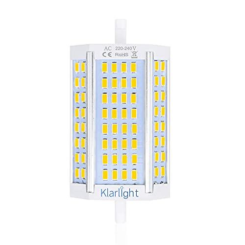 Klarlight 30W R7s 118mm LED Dimmerabile Bianco Naturale 4000K Sostituzione per 200W-300W R7s J118 Lampadina Alogena Lineare, Lampadine R7s J118 per Lampada Riflettore Proiettore, Lampada Soffitto