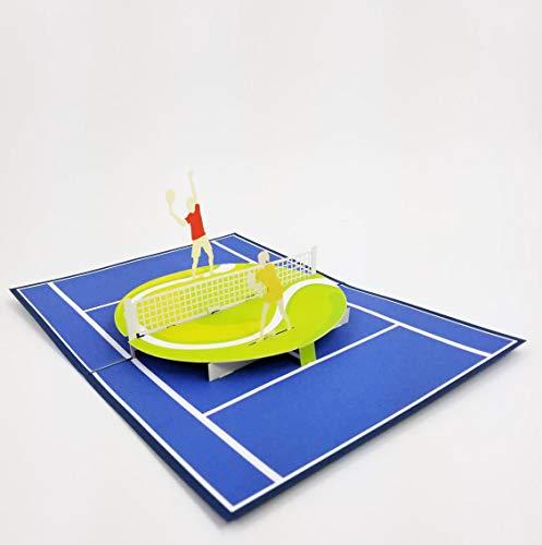 Golf Geburtstagskarte – Ruhestand, Glückwunsch, Dankeschön, Vatertag, Muttertag, Golfreund und Popkarte Express Pop-Up-Karte für Tennis