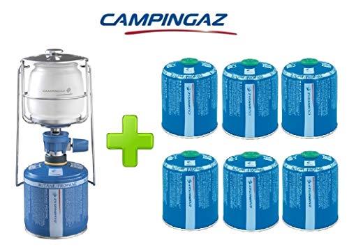 ALTIGASI Lanterne Lampe à gaz Campingaz LUMOGAZ Plus de 80 W + 6 pièces Cartouche CV 470 de 450 GR