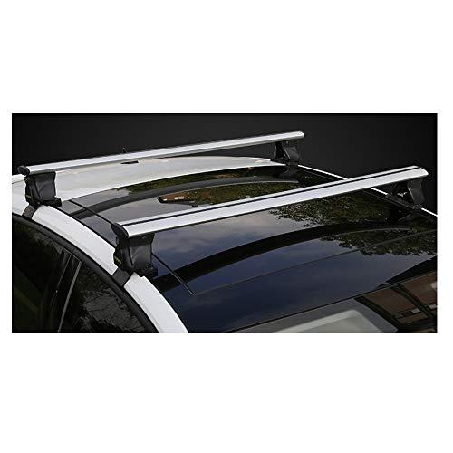 2pcs de aluminio superior de la azotea del ala barra transversal barras de reemplazo de parrilla for carga antirrobo - equipaje, con el ciclismo 180 kg Capacidad de carga - Se adapta a los coches y SU