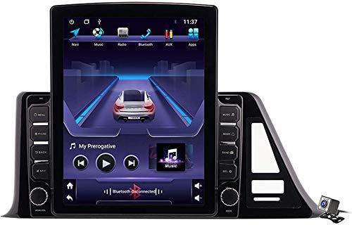 LYHY Écran Vertical Android 9.1 9,7 Pouces stéréo AutoRadio Multimédia Navigation GPS pour Toyota C-HR 2016-2020, Prend en Charge Autoradio de Voiture/système DSP FM/BT/Commande au Volant