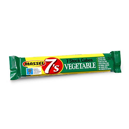 Massel 7's, Vegan Compressed Stock Cubes - Gluten-Free, Vegetable Broth Flavour - 35g, Pack of 30 Soup Stock