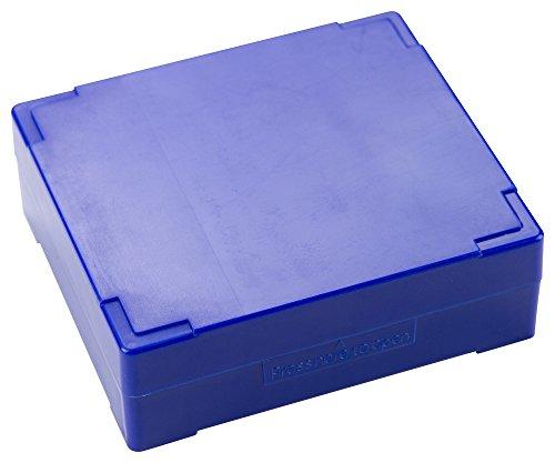 Caplugs Evergreen 258-5811-B10 Slide Storage Mailing Boxes. 25 Places, Styrenic Thermoplastic, Blue