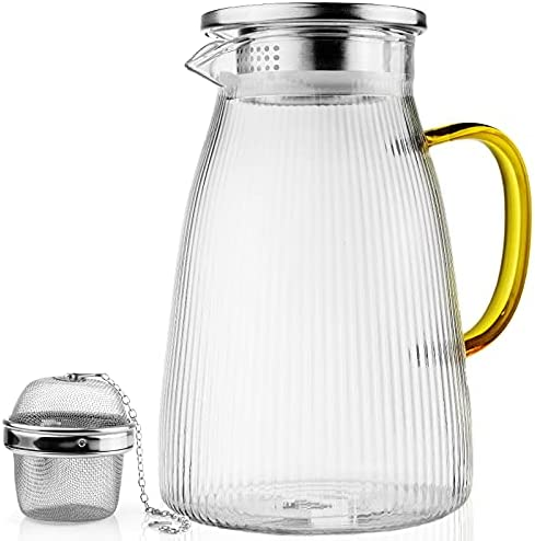 Top 10 Best iced tea container for fridge glass Reviews