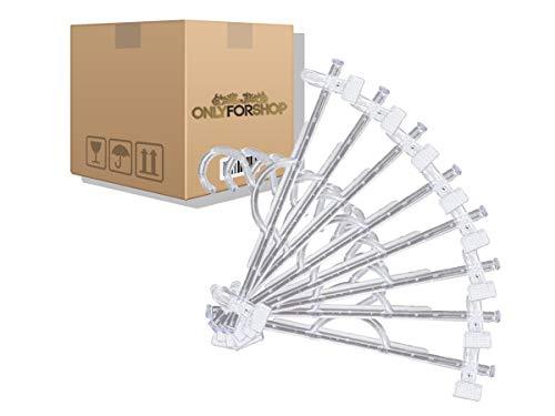 Cabides Acrílico Modelo Saia Calça 25 Unidades 10mm Premium