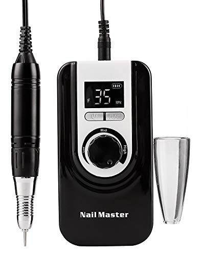 Professional Nail Drill Machine, Lumcrissy Portable 35000RPM Nail Drill,Electric Nail File Rechargeable Efile Nail Drill For Gel Nails Remove, Home and Salon Use Nail Tools