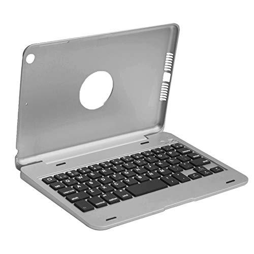 CGGA Besegad Teclado Bluetooth inalámbrico inteligente para iPad Mini 1 2 3 4 Funda protectora Flip Case Cover Holder Tablet (color plata)
