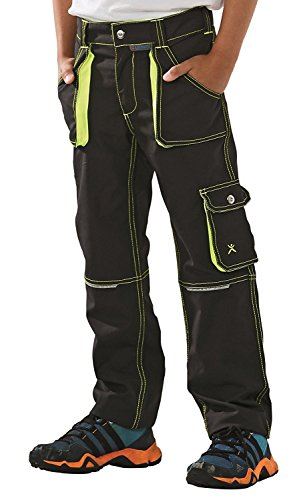 6110 Planam Junior Bundhose anthrazit/gelb (134/140)