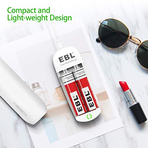EBL Universal Battery Charger Speedy Smart Lithium Charger for 3.7V Rechargeable Batteries Li-ion IMR 10440 14500 16340 18650 RCR123A Batteries