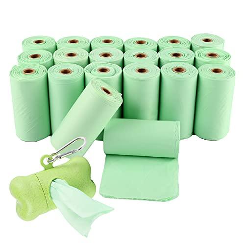 Bolsas Caca Perro 300 Bolsas 100% Biodegradables con 1 Dispensador, Bolsas Excrementos Perros Biodegradables para Excrementos Perros, Gatos, Mascotas Cuidar el Medio Ambiente