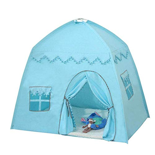 Children's play tent, play tent for children, baby children's tent playhouse, bed tent tent decoration, gifts for boys and girls, princess Prince Castle, blue.