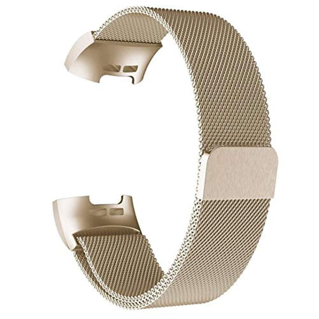 メディックプロジェクターバレーボールJasnyLoo Fitbit Charge 3ストラップ交換用ミラネースステンレススチール磁気バックル用のミラノ磁気メタルバンド付きスマートウォッチ