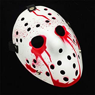 TANGGOOO Jason Mask Hockey Cosplay Halloween Killer Horror Scary Party Decor Mask Festival Christmas Masquerade Masque V for Vendetta Thing You Must Have Friendship Gifts Boys Favourite Characters