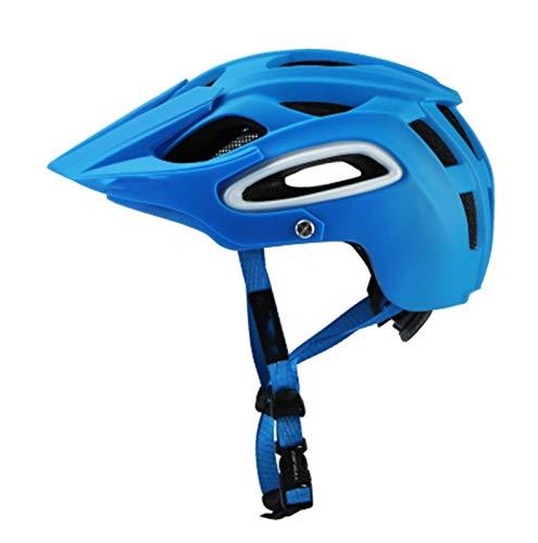 MissLi Equipo De Deportes Al Aire Libre Casco Nuevo Casco De Ciclismo De Bicicleta De Carretera De Montaña con Forro De Repuesto (Color : Blue, Size : Medium)