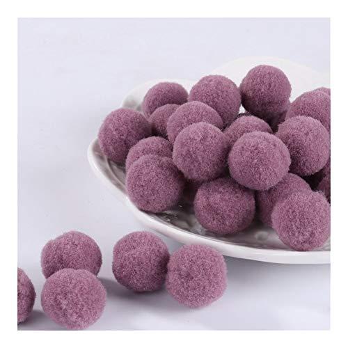 JIAHUI Pompones suaves de mezcla de pompones de felpa esponjosa para manualidades con pompones y bolas para decoración del hogar (color: 28, tamaño: 20 mm, 30 unidades)