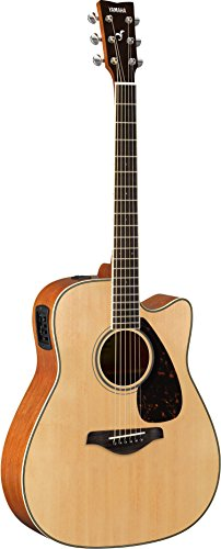 Yamaha FGX820C Solid Top Cutaway Acoustic-Electric Guitar, Natural
