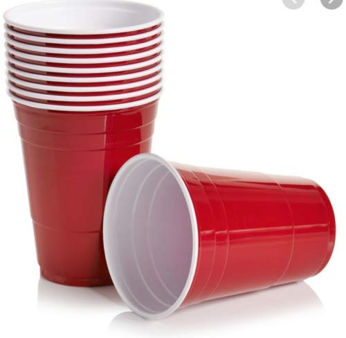 Party Cups Red Amercian Style Red Cups Size 12oz Plastic Red Party Cups Disposable (Pack of 50)