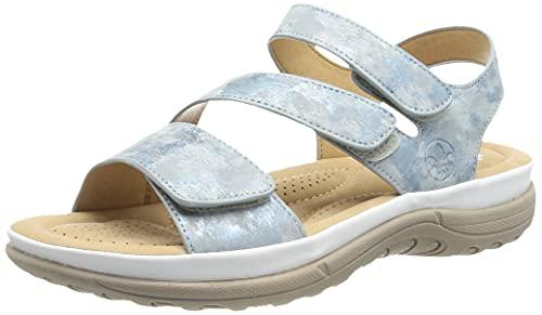 Rieker Damen V8872 Sandale, Blau, 39 EU