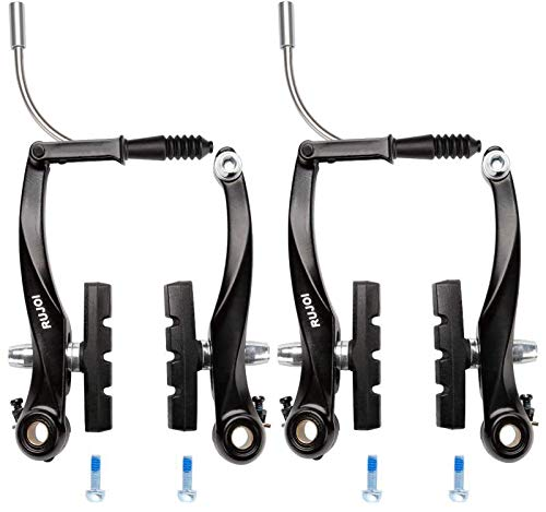 RUJOI Bike Brakes Set,Mountain Bike V Brakes Type,V-Brake Replacement Set for MTB, Road...
