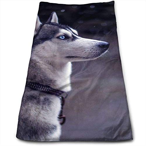 Tyueu Face Towels Toallas de Mano Cara Husky Quick-Dry Hand Towels, Bathrooms, SPA, Pool and Gym 11.8'x27.5'