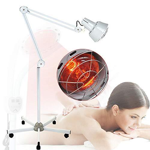 Lámparas de infrarrojos E27 para terapia de luz infrarroja con ruedas, soporte de suelo, 275 W, 220 V, tratamiento de resfriados y tensión muscular