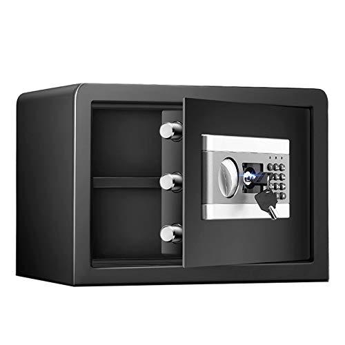 Pequeña caja fuerte robusta Electronic Digital Security Safe Box Keypad Lock Home Office Hotel Business Jewelry Gun Uso de efectivo Para el dinero de la joyería. ( Color : Black , Size : 35x25x25cm )