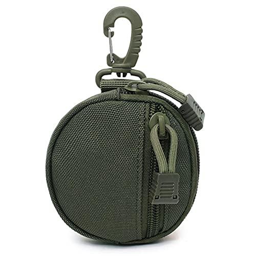 Lingge コイン収納ジッパーバッグ、10cm EDCポーチキーアクセサリー収納袋の戦術袋ケースコイン財布キーホルダーケース財布ミリタリーギアバッグリトルチェンジ財布 fun