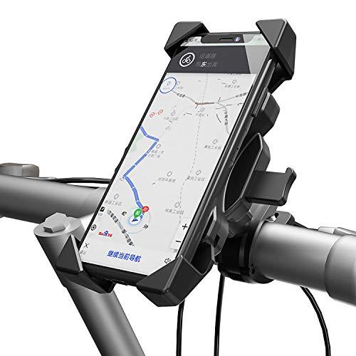 YGL - Soporte para teléfono de moto con rotación libre de 360 °, compatible con teléfono inteligente de 4 a 6,5 pulgadas