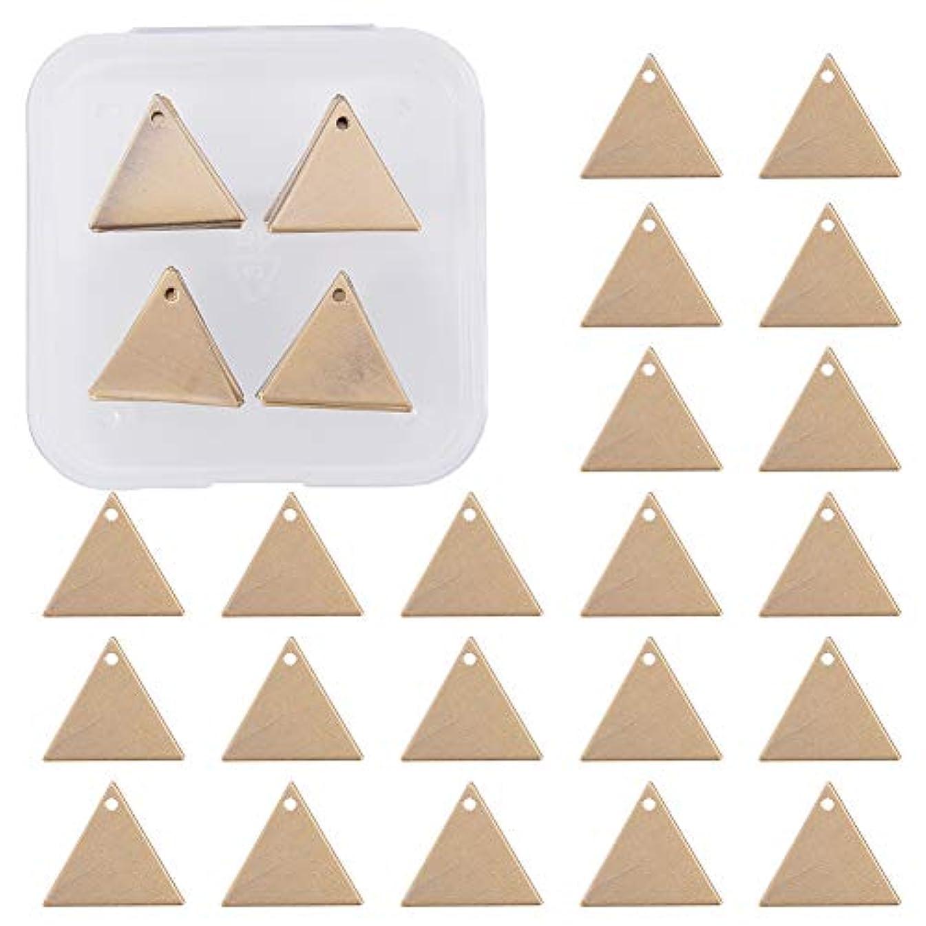 BENECREAT 30 Pack Stamping Blanks Brass Blank Pendants for Bracelet Earring Pendant Charms Dog Tags - 0.70x0.62, Triangle Shape