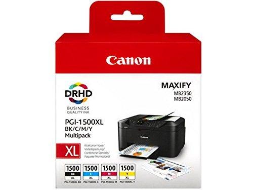 1x Satz Original Tintenpatrone Canon PGI-1500 für Canon Maxify MB 2350 - BK, Cy, Ma, Ye - -