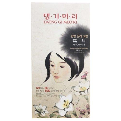 Daeng Gi Meo Ri Medicinal Herb Hair Color to cover gray hair(Black)
