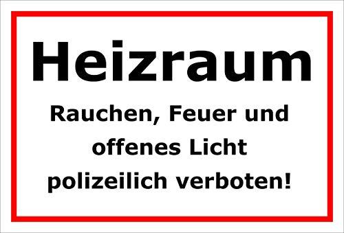 Melis Folienwerkstatt Aufkleber – Heizraum - 30x20cm – S00070-135-B -20 VAR