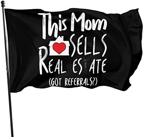 RFTGB Th-Mis Mom verkauft Immobilienmakler-Flaggen Fade Resistant Yard Flag für Garden Decor 3x5 Ft