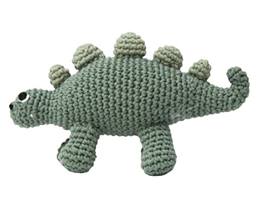 Sebra - Häkel-Rassel - Dino/Dinosaurier - Baumwolle - handgefertigt